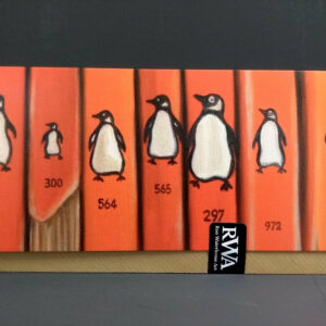 Art Card: Penguin Line Up - from an original oil painting