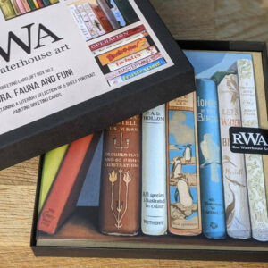 Gift Box No.2: Flora, Fauna & Fun! - Five Art Cards from original bookshelf paintings